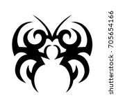 tribal tattoo art designs.... | Shutterstock .eps vector #705654166