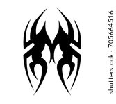 tattoo tribal vector design.... | Shutterstock .eps vector #705664516