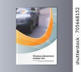 abstract flyer design... | Shutterstock .eps vector #705668152