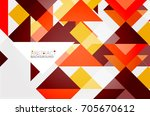 triangle pattern design... | Shutterstock .eps vector #705670612