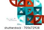business presentation geometric ... | Shutterstock .eps vector #705672928