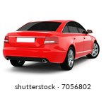 red business class car on a... | Shutterstock . vector #7056802