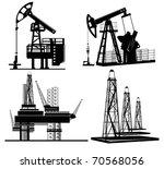 oil silhouette hand drawn   Shutterstock .eps vector #70568056