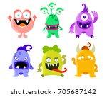 cute monster set. different... | Shutterstock .eps vector #705687142