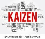 kaizen word cloud collage ... | Shutterstock .eps vector #705689935