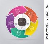 vector circle arrows for...   Shutterstock .eps vector #705692152