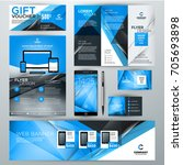 set of stationery design... | Shutterstock .eps vector #705693898