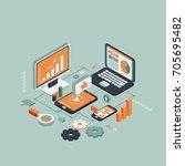 wireless technologies isometric   Shutterstock .eps vector #705695482