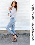 Young Stylish Woman Wearing...