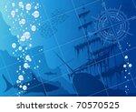 underwater background with... | Shutterstock .eps vector #70570525