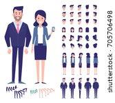 vector character set for... | Shutterstock .eps vector #705706498