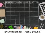grid timetable schedule with... | Shutterstock . vector #705719656