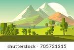 farmland rural cartoon... | Shutterstock . vector #705721315