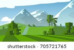 farmland rural cartoon... | Shutterstock . vector #705721765