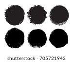 grunge circle set.vector round...   Shutterstock .eps vector #705721942