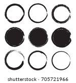 grunge circle set.vector round... | Shutterstock .eps vector #705721966