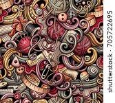 cartoon cute doodles hand drawn ... | Shutterstock .eps vector #705722695