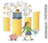 business training  education... | Shutterstock .eps vector #705723526