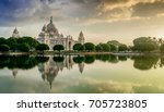 Beautiful  Victoria Memorial, Kolkata , West Bengal, India,