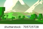 farmland rural cartoon... | Shutterstock . vector #705725728
