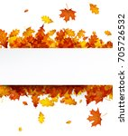 autumn background with golden... | Shutterstock .eps vector #705726532