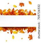 autumn background with golden... | Shutterstock .eps vector #705726532