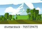 farmland rural cartoon... | Shutterstock . vector #705729475