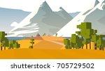 farmland rural cartoon... | Shutterstock . vector #705729502