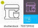 stand mixer line icon  golden... | Shutterstock .eps vector #705729532