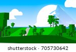 farmland rural cartoon... | Shutterstock . vector #705730642