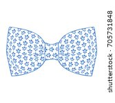 bow tie. marina color. vector... | Shutterstock .eps vector #705731848