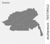 high quality map of guainia is...   Shutterstock .eps vector #705739012