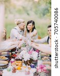the close up photo of the table ... | Shutterstock . vector #705740086
