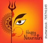 illustration of happy navratri... | Shutterstock .eps vector #705741145