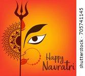 illustration of happy navratri... | Shutterstock .eps vector #705741145