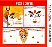 illustration of happy navratri... | Shutterstock .eps vector #705741172
