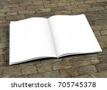 opened book template with soft... | Shutterstock . vector #705745378