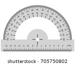vector image of protractor ... | Shutterstock .eps vector #705750802