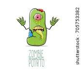 vector funny cartoon cute green ...   Shutterstock .eps vector #705753382