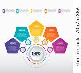 business presentation or... | Shutterstock .eps vector #705755386
