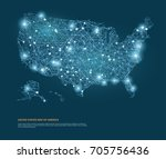 vector map of united states... | Shutterstock .eps vector #705756436