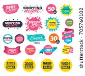 sale shopping banners. back to... | Shutterstock .eps vector #705760102