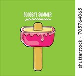 vector goodbye summer vector... | Shutterstock .eps vector #705764065