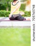basic yoga healthy concept ... | Shutterstock . vector #705765748