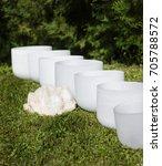 crystal singing bowls for... | Shutterstock . vector #705788572