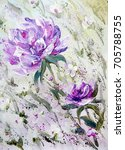 hand painted modern style... | Shutterstock . vector #705788755