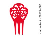 red flamenco comb. typical... | Shutterstock .eps vector #705794086