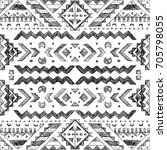 tribal abstract hand drawn... | Shutterstock . vector #705798055