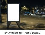 blank advertisement lightbox in ... | Shutterstock . vector #705810082