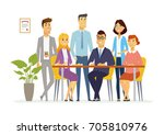 office team   vector cartoon...   Shutterstock .eps vector #705810976